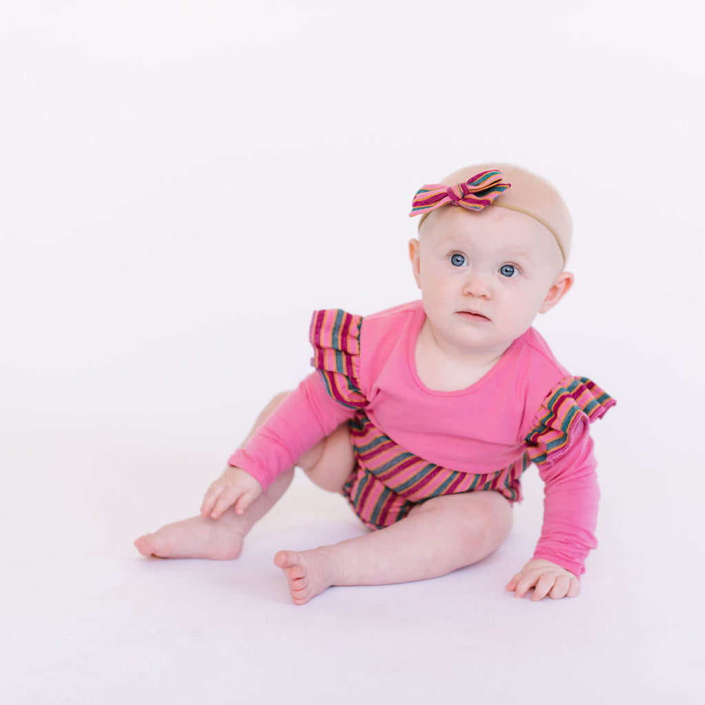 Mini Twirl Headband in Cereza Dulce