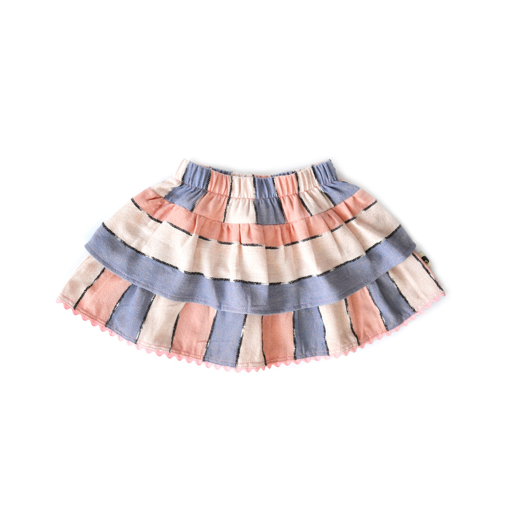 Julia Layered Skirt in Cielo de Verano