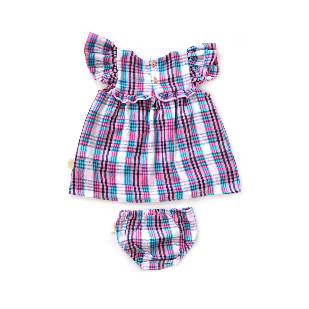 Mini Brisa Dress in Marina Plaid