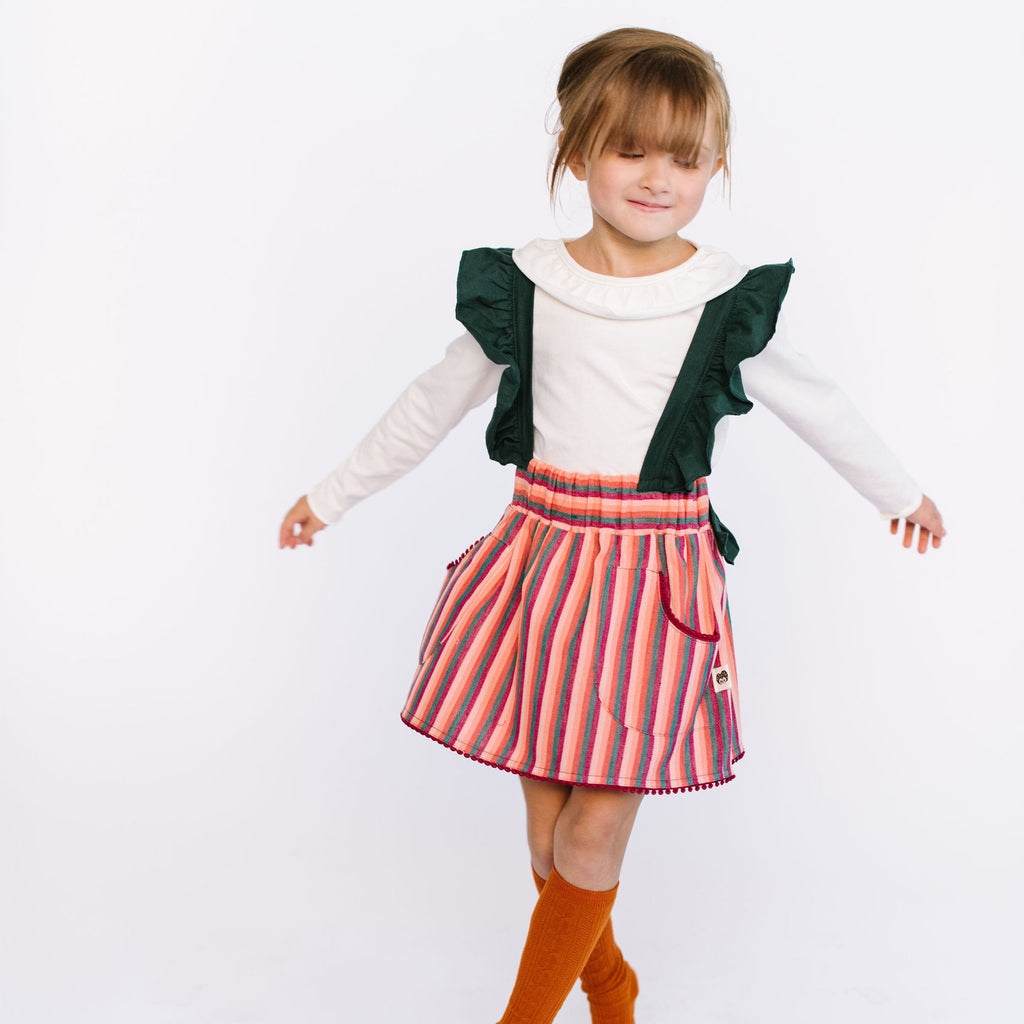 Folklore white girl soft tee and skirt