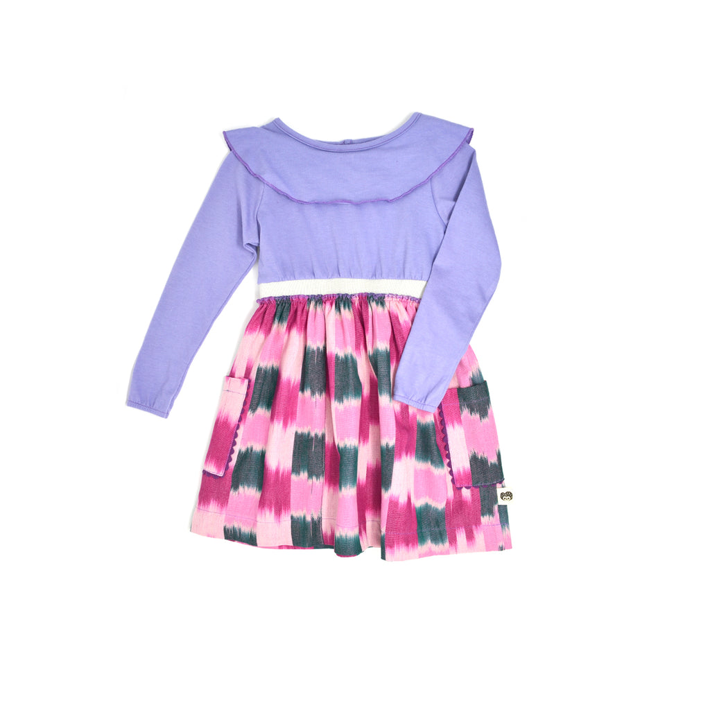 purple pink girl dress
