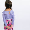 purple pink girl long sleeve dress