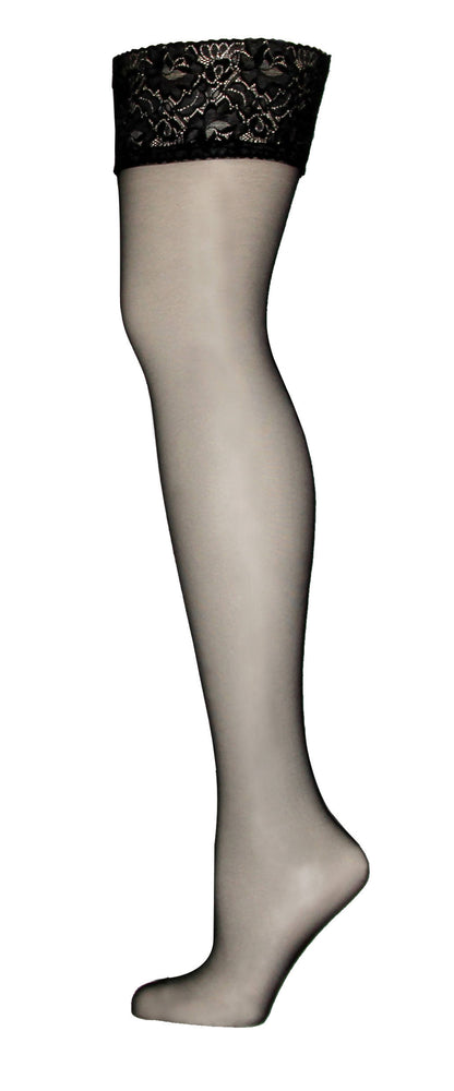 ALBA Black Back Seam Stockings