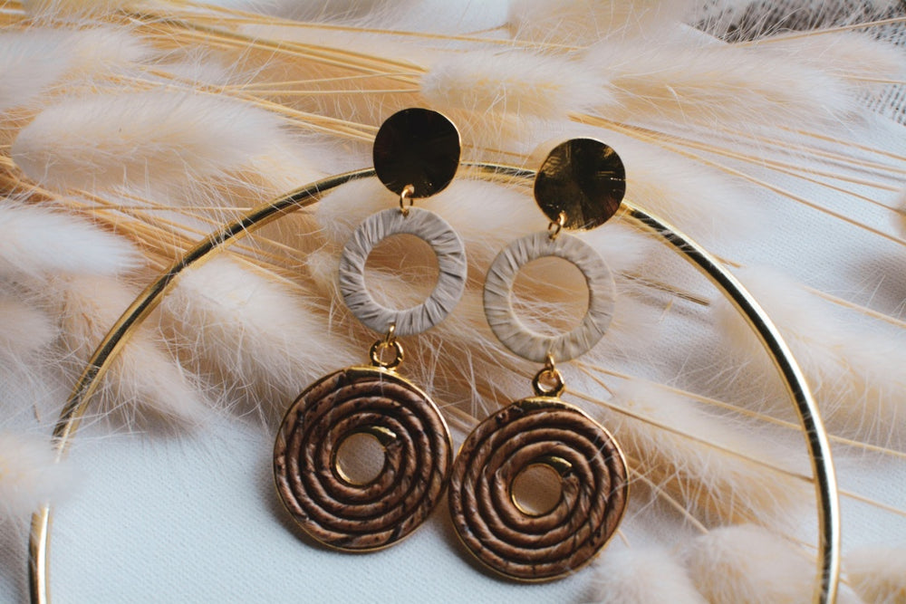 Banana Fiber Disco Earrings