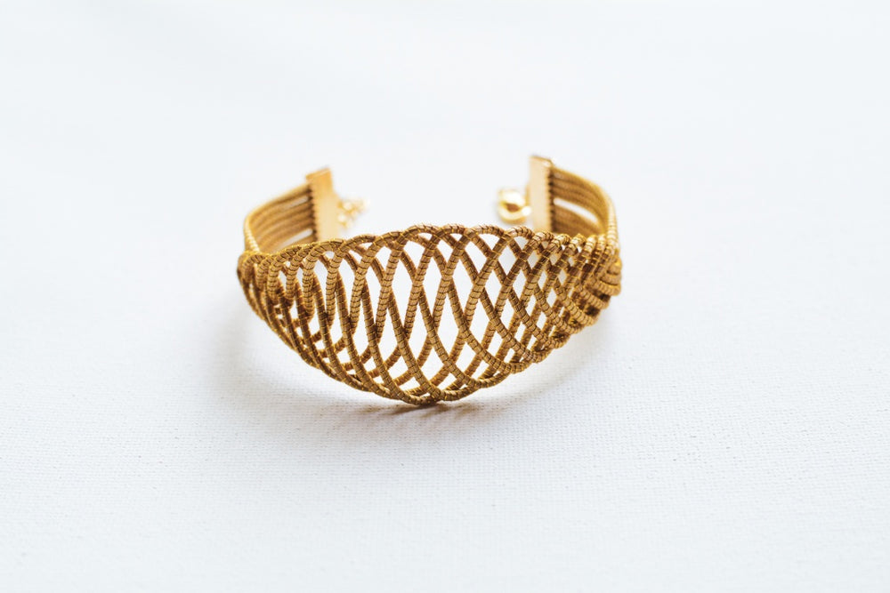 Golden Grass Cuff