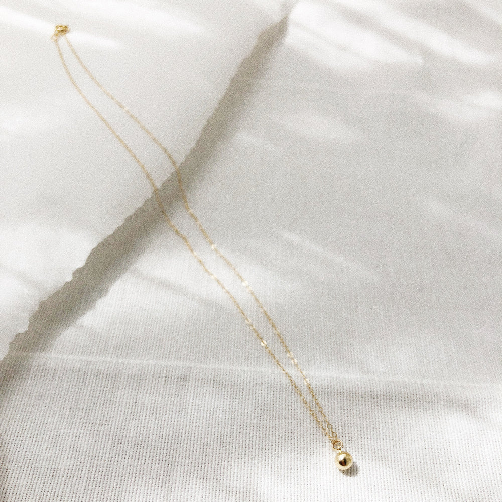 Dainty Ball Charm Necklace
