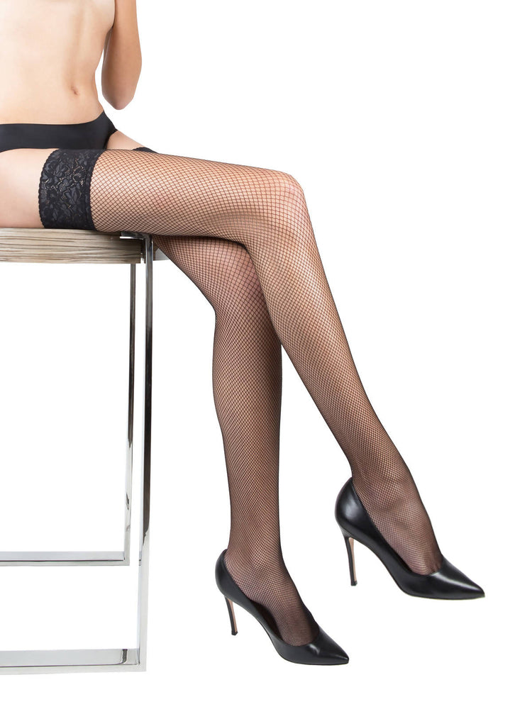 GIORGIA Black Fishnet Stockings