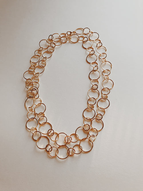 Gold Layering Bubbles Necklace