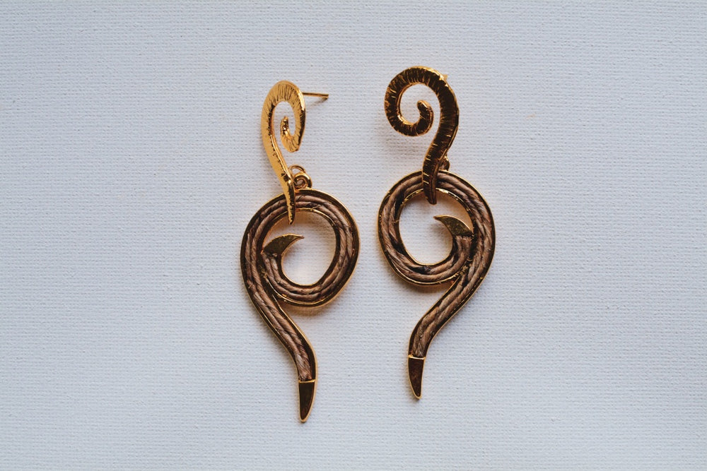 Banana Fiber Deco Earrings