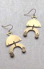 Brass Double Arch Earrings