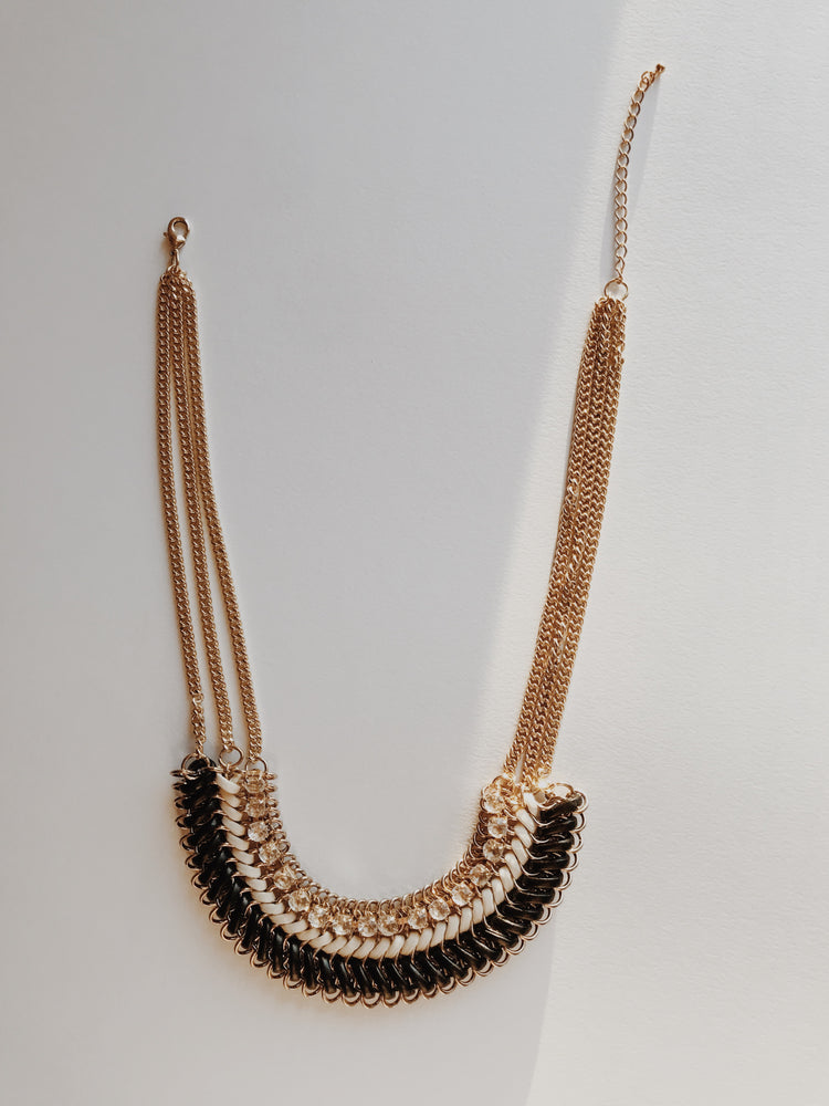 Gold Crystal Empire Necklace
