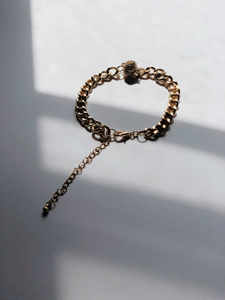 Gold Lion Chain Link Bracelet