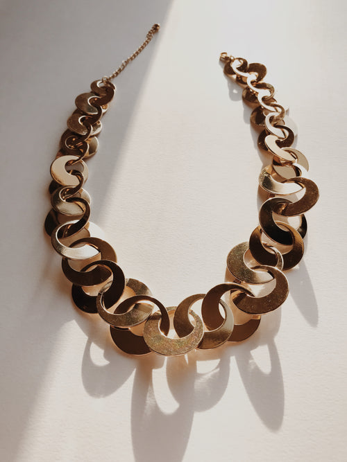 Gold Ringlets Necklace