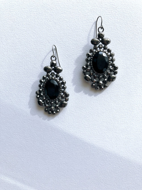 Black Widow Drop Earrings
