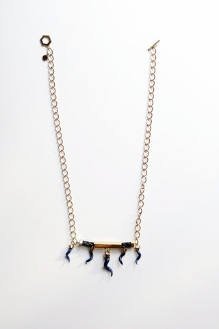 Petite Pyramid Crystal Necklace