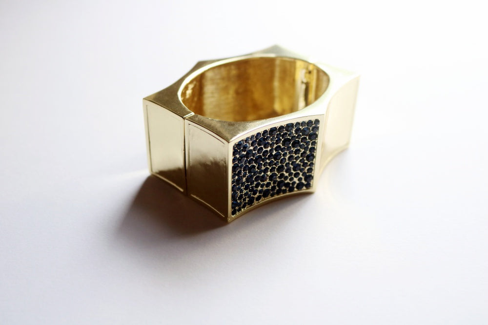 Gold Arched Statement Cuff