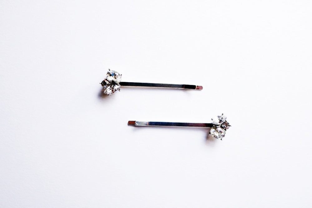 Violetta Crystal Bobby Pins (Set of 2)
