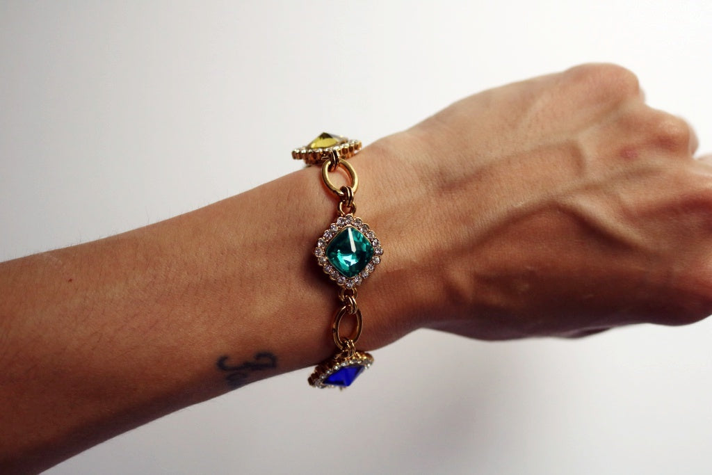 Aurora Crystal Links Bracelet