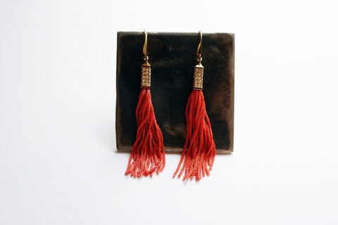 Pyramid Fringe Statement Earring