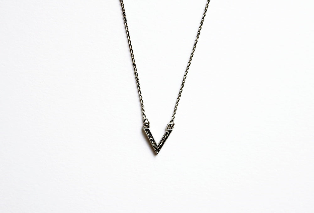 Baby Crystal V Necklace
