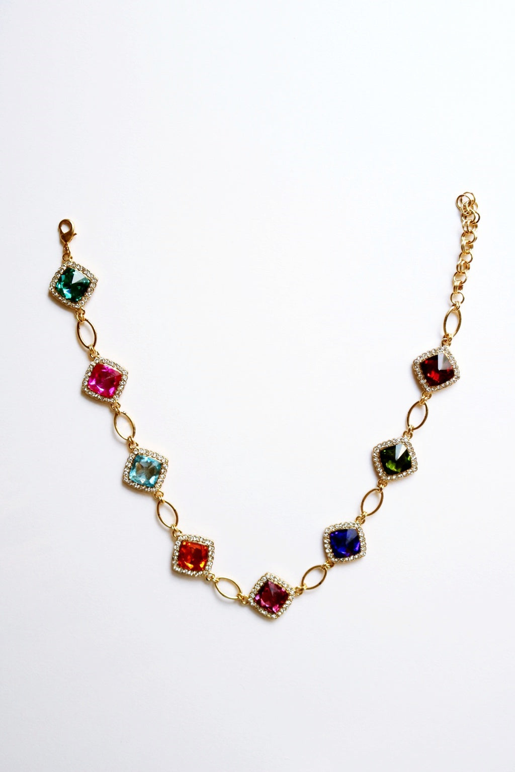 Aurora Crystal Links Necklace