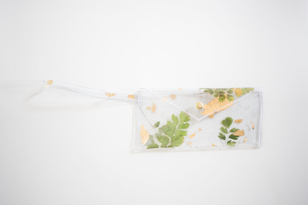 Vinyl Pressed Plant Clutch, Maiden Hair Fern