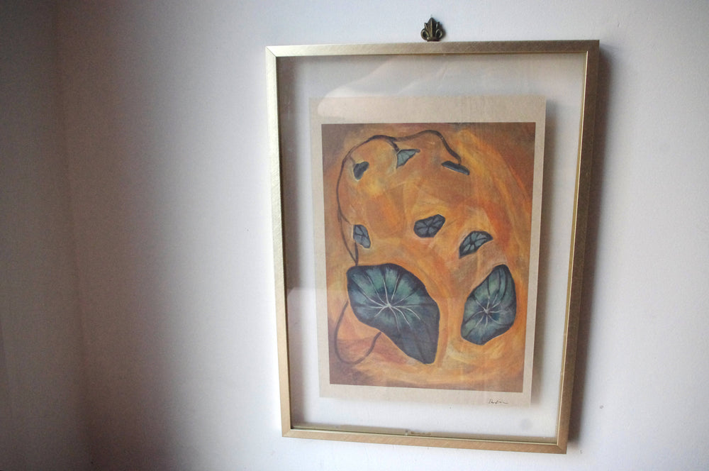 Nasturtium Print on Hemp Paper