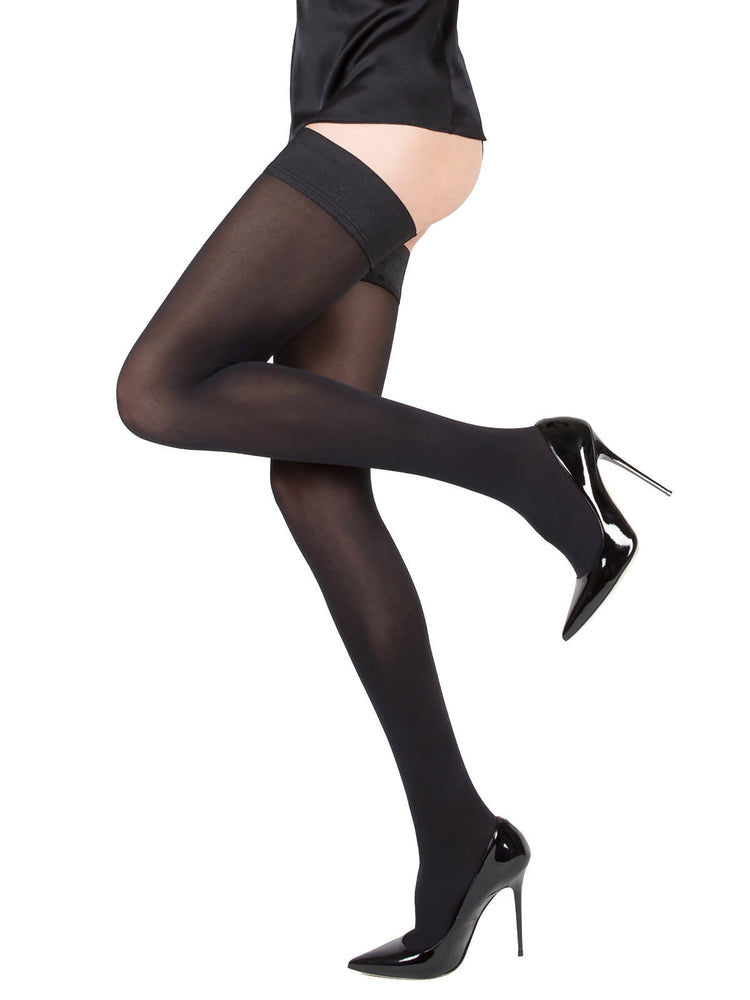 CLAUDIA Black Matte Stockings