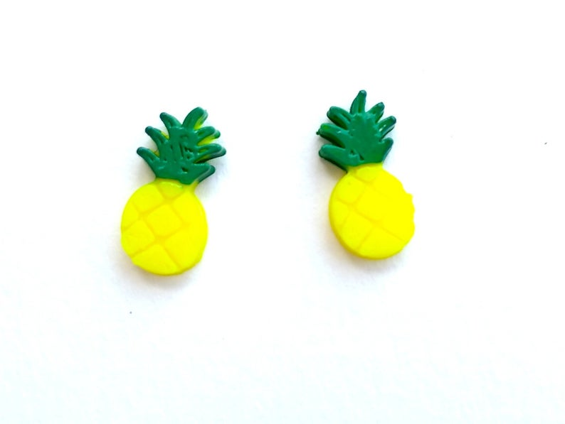 3D Printed Pineapple Studs
