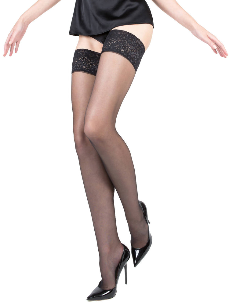 ISABELLA Black Sheer Stockings