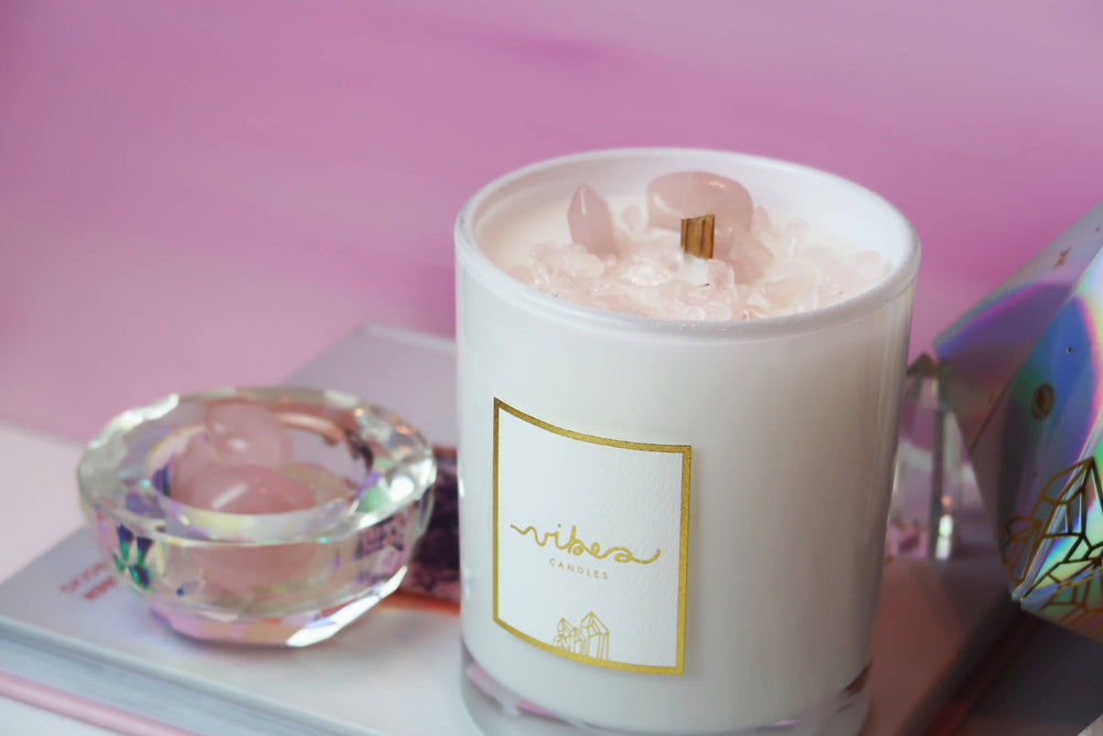 Crystal Candle - Rose Quartz
