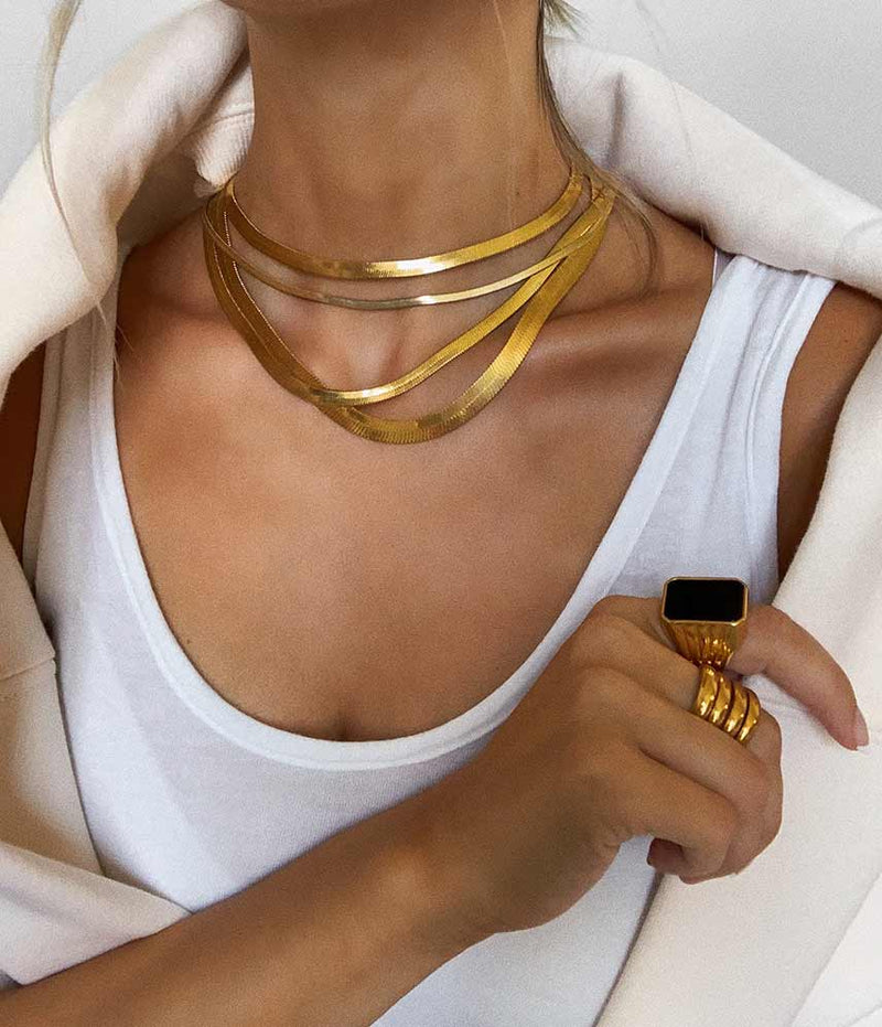 Thick Gold Filled Monte Carlo Necklaces BRACHA