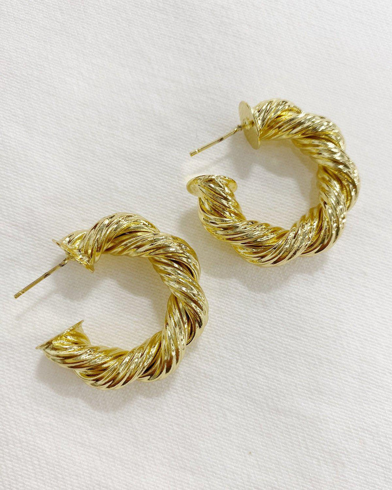 Harlow Rope Hoops Earrings BRACHA Small