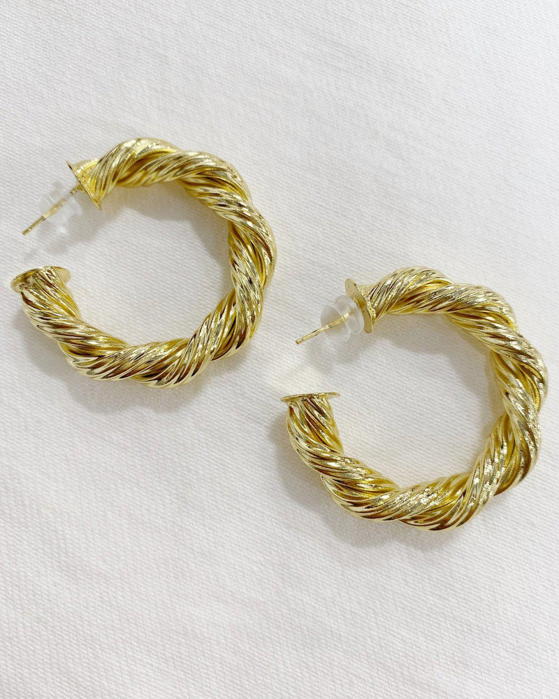 Harlow Rope Hoops Earrings BRACHA Medium