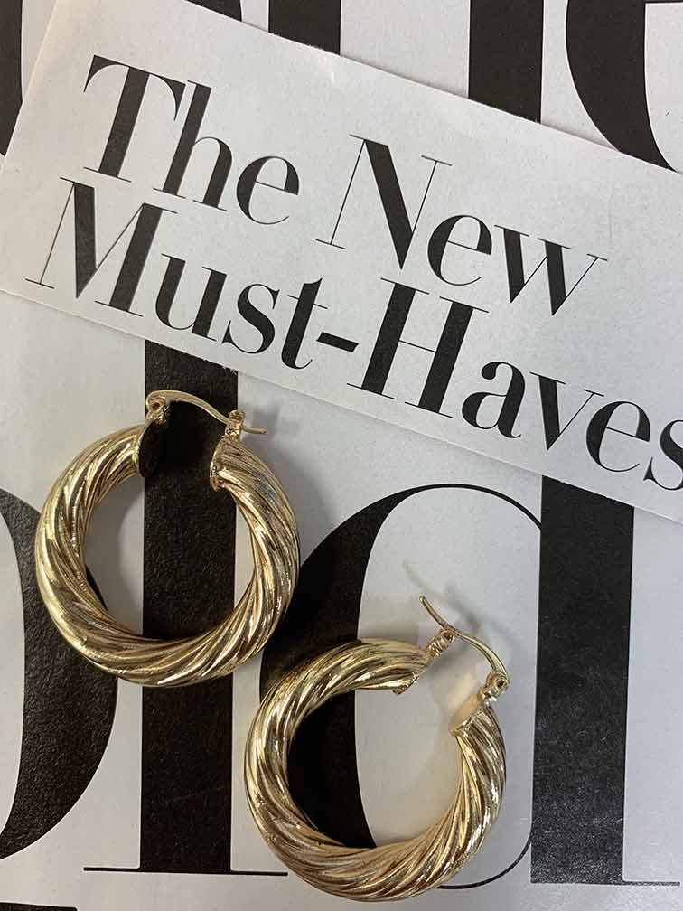 Milan Medium Hoops Earrings BRACHA