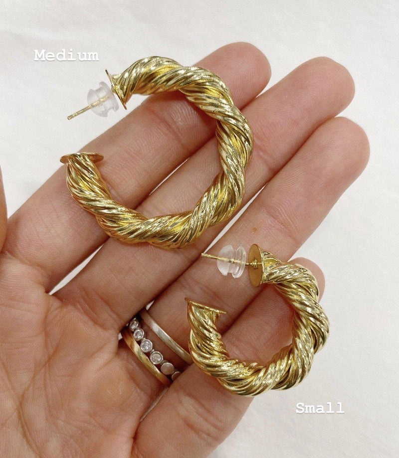 Harlow Rope Hoops Earrings BRACHA
