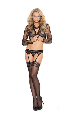 MC1218 Lace Garter Belt and matching Thong