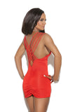 MC8279 Deep V Mini Dress