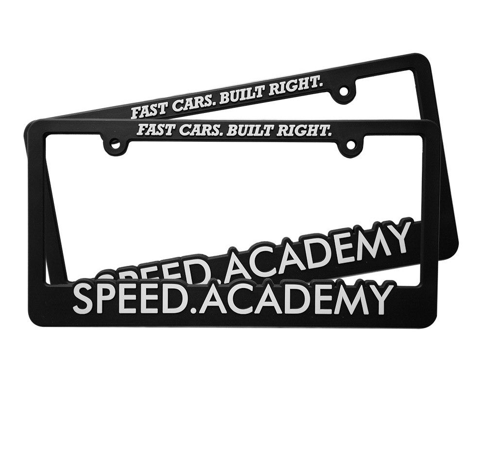 Speed Academy License Plate Frame