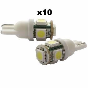 LED T10 - 5 point (10 Pack of 2 pieces)