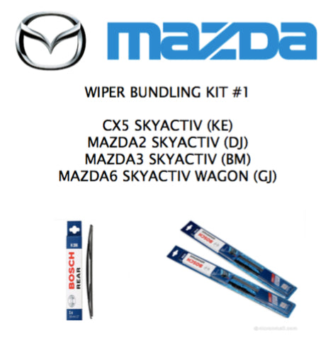 CX5, MAZDA2/3/6 Wagon/Hatch -  Wiper Full Kit #1
