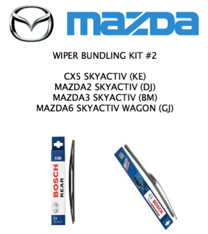 CX5, MAZDA2/3/6 Wagon/Hatch -  Wiper Full Kit #2