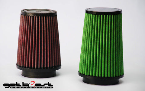 High-Flow Green Replacement Filters for 3 Inch Intake Systems