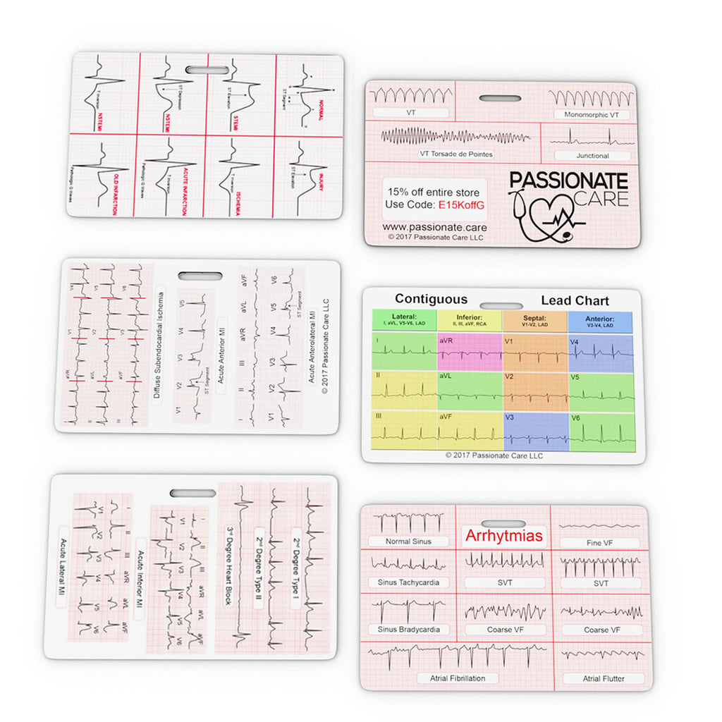 EKG Caliper Plus EKG Educational Cards