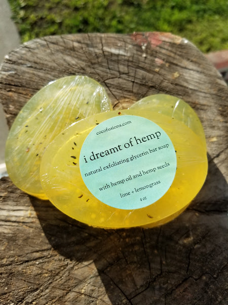 I Dreamt of Hemp glycerin soap bar