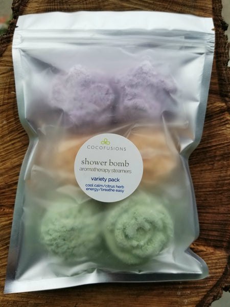 Shower Bomb aromatherapy steamers