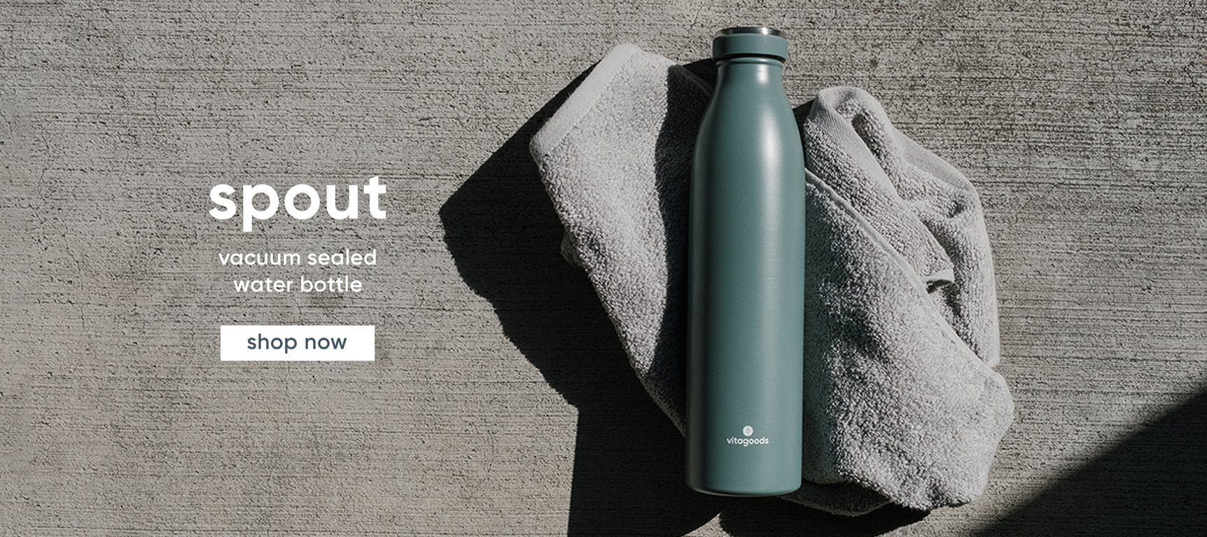 spout vacuum sealed water bottle