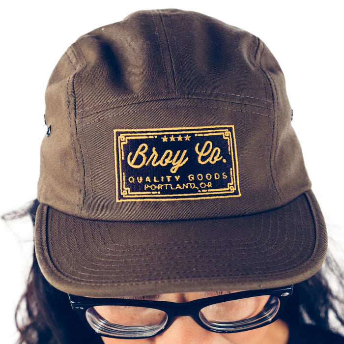 Broy Co. Four Star Camper Hat in Olive