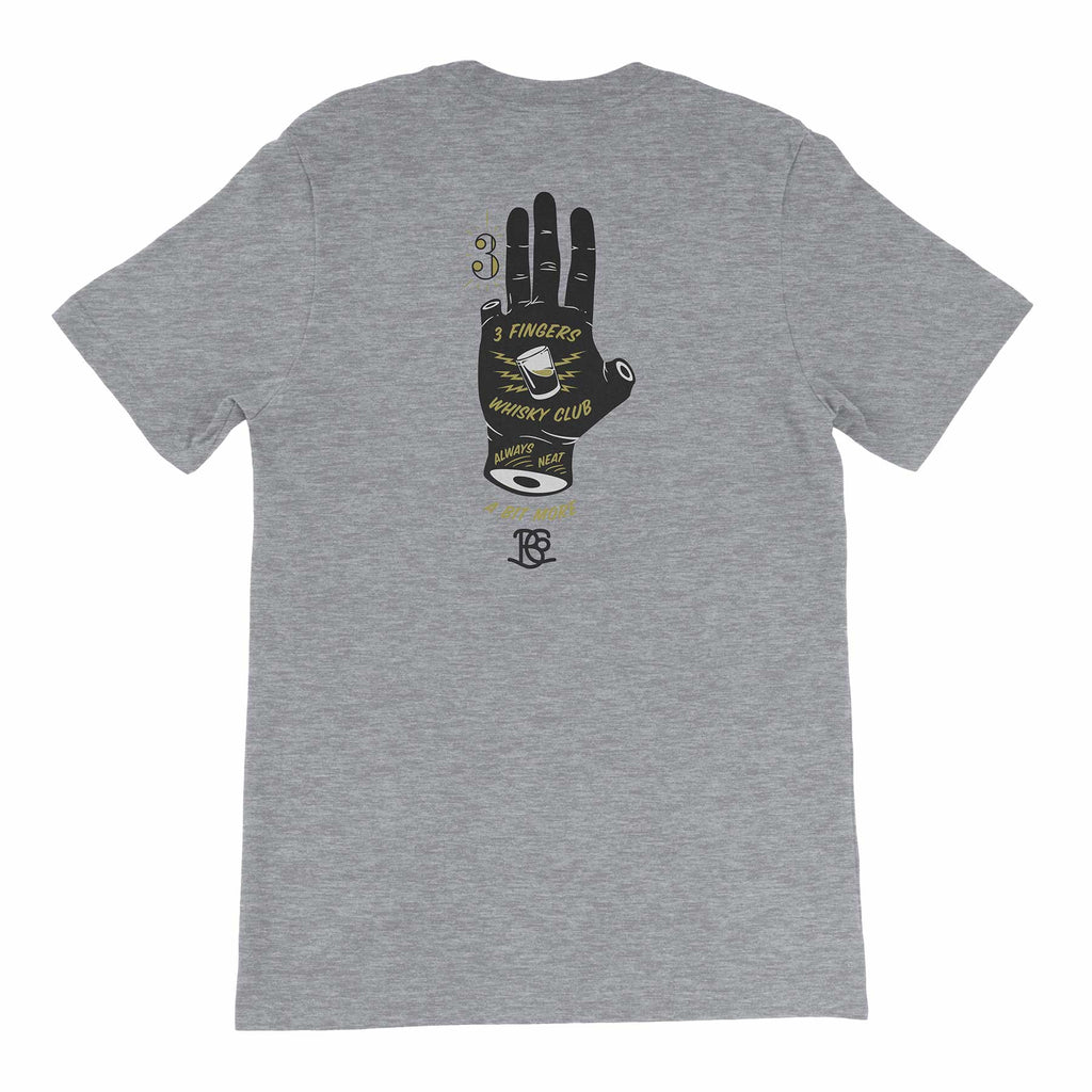 3 Finger Whisky Club Short-Sleeve Unisex T-Shirt in Athletic Heather