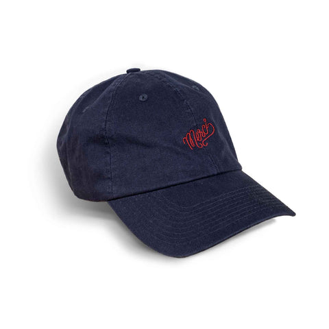 Merci Dad Hat In Navy